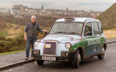 Badachro Gin gets a capital taxi ride